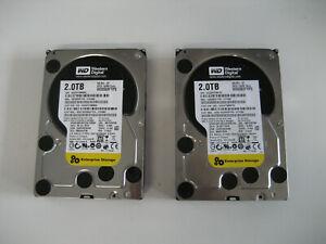2-Stueck-SATA-HDD-2TB-3-5-034-Festplatte-Western-Digital-Internal-7200RPM-WD2003FYPS