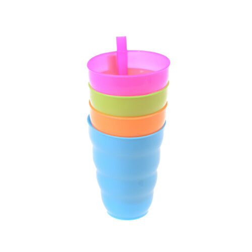 Kids Children Infant Baby Sip Cup with Built in Straw Mug Drink Solid Feeding-DA