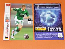TIM BOROWSKI WERDER BREMEN FOOTBALL CARDS PANINI CHAMPIONS LEAGUE 2007-2008