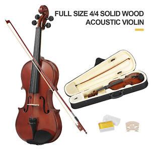 4-4-Violine-Geige-Set-Geigenset-fuer-Anfaenger-mit-BogenKinnstuetze-Koffer