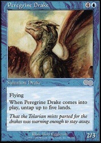 1x Peregrine Drake Light Play English Urza/'s Saga MTG Magic
