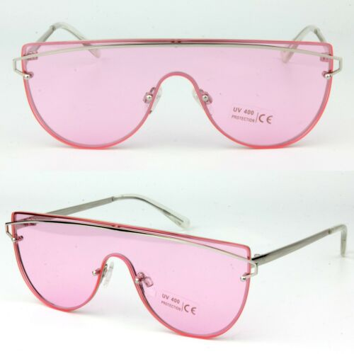 Mono Lens Transparent Colour Singe Lens Fun Fashion Sunglasses UV400