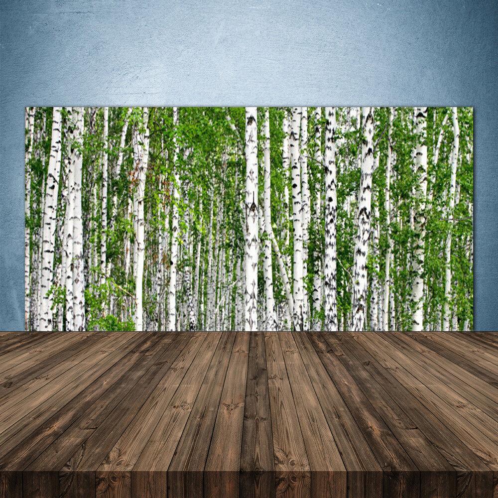 Crédence de cuisine en verre Panneau 140x70 Nature Bouleau Forêt Arbres