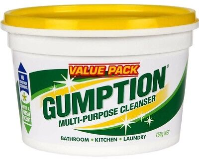 Open-Minded Gumption Multi Purpose Cleaner Bathroom Kitchen Laundry Boat Other Home Cleaning Supplies Household Supplies & Cleaning Value Pack 750g Supplement The Vital Energy And Nourish Yin