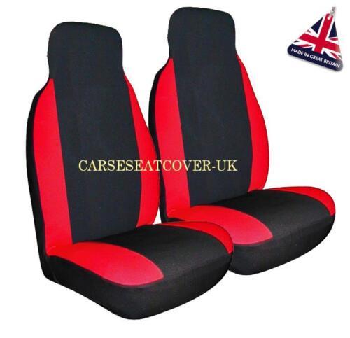 Par De Rojo Racing Delantero Coche cubiertas de asiento-Ajuste Universal