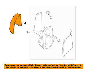 FORD OEM Door Side Rear View-Mirror Cover Cap Trim Left YW7Z17D743AAA