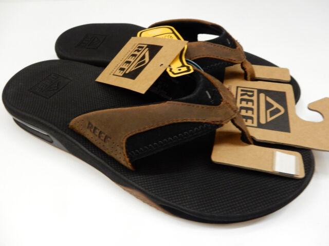 c5ff0d08a711 Reef Men s Leather Fanning Sandal Black bronze Sz 12 for sale online ...