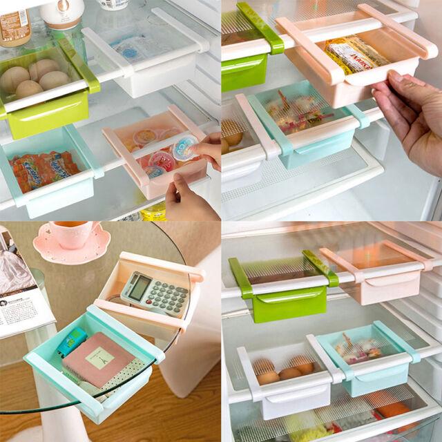 2X Gefrierschrank Kühlschrank Lagerregal Organizer Schublade Aufbewahrungsbox