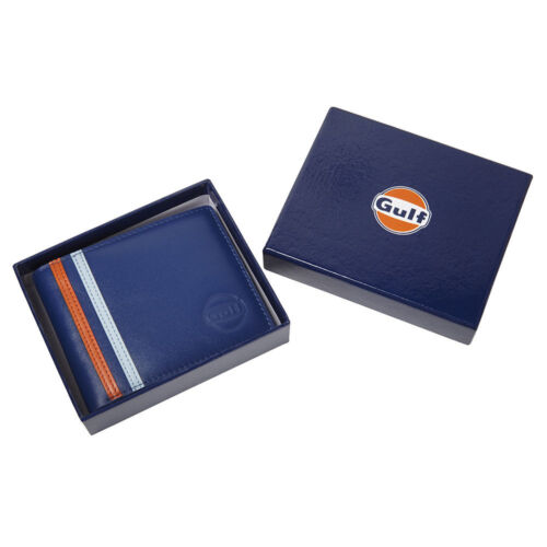 AUTHENTIC GULF LEATHER WALLET FREE UK SHIP LE MANS OFFICIAL MERCHANDISE