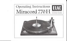 Elac Service Manual für Miraphon 20  Copy