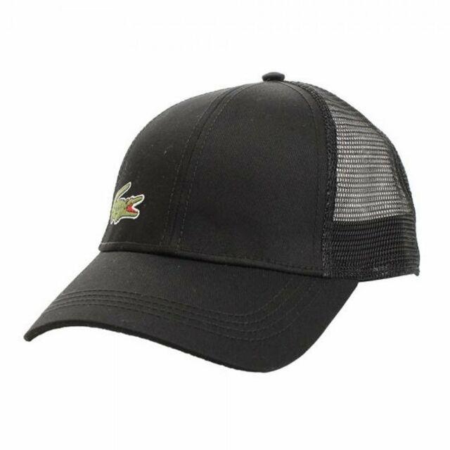 Lacoste 2017 Mens Trucker Style Mesh Baseball Cap Hat Black for sale ... 1c310eb72a6