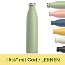Trinkflasche Thermosflasche Edelstahl 500ml LARS NYSØM Bottle1 Liter BPA-frei