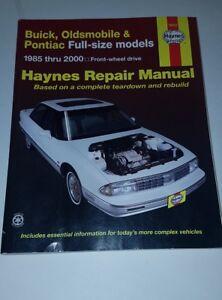 Haynes-Repair-Manual-Buick-Oldsmobile-and-Pontiac-Full-Size-Models-85-05