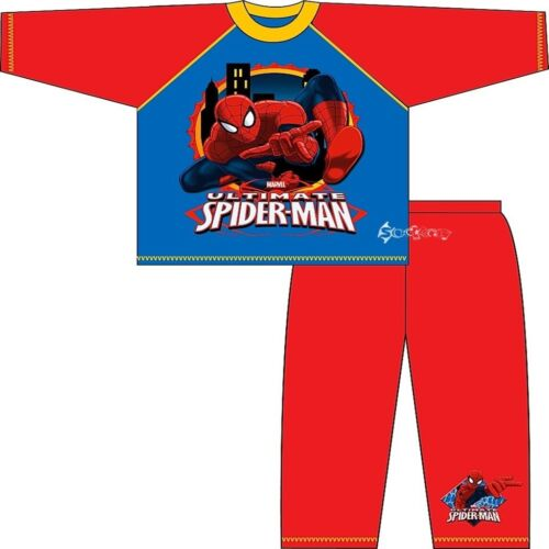 Boys Ultimate Spiderman Long Cotton Pyjamas Ages 3-10 Years