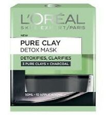 Loreal Pure Clay Detox Mask DETOXIFIES + CLARIFIES - 3 PURE CLAYS + CHARCOAL