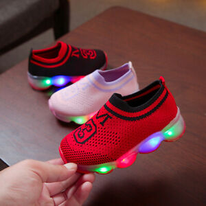 Child-Kids-Girls-Light-Up-Shoes-LED-Flashing-Trainers-Casual-Sneakers-Infant