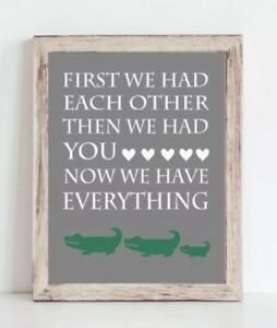 Details About Gray And Green Baby Boy Alligator Family Nursery Print Crocodile Decor