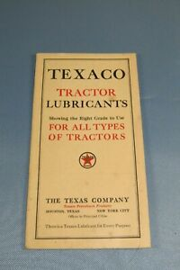 Vintage Texaco Tractor Lubricants Guide-Manual Pamphlet Sales Brochure Gas-Oil