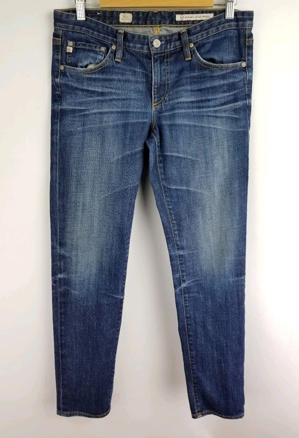 AG Adriano goldschmied Jeans Size 29 R Womens Stilt Cigarette Leg Medium Wash
