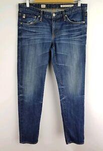 AG-Adriano-Goldschmied-Jeans-Size-29-R-Womens-Stilt-Cigarette-Leg-Medium-Wash