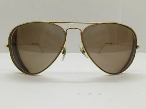 08d10586e4 B L Ray-Ban Eyeglass Frames 58-14-130 Gold Aviator TV3 7345