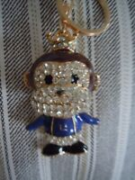 Fabulous King / Queen / Prince/ Princess Monkey With A Crown Bling Key Chain L3