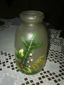 Vase-bemaltes-Glas-um-1920