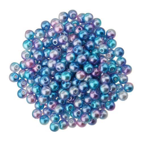 500 Pcs 4mm Colored Imitation Pearl ABS Plastic Loose Beads Jewelry Supplies