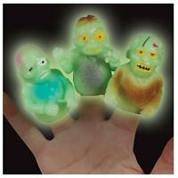 5 -10 Pc Glow In The Dark Zombie Finger Puppets Living Zombies Gag Gift Loot Bag