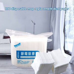 100pcs-Disposable-Electrostatic-Dust-Removal-Mop-Paper-Kitchen-Cleaning-Cloth