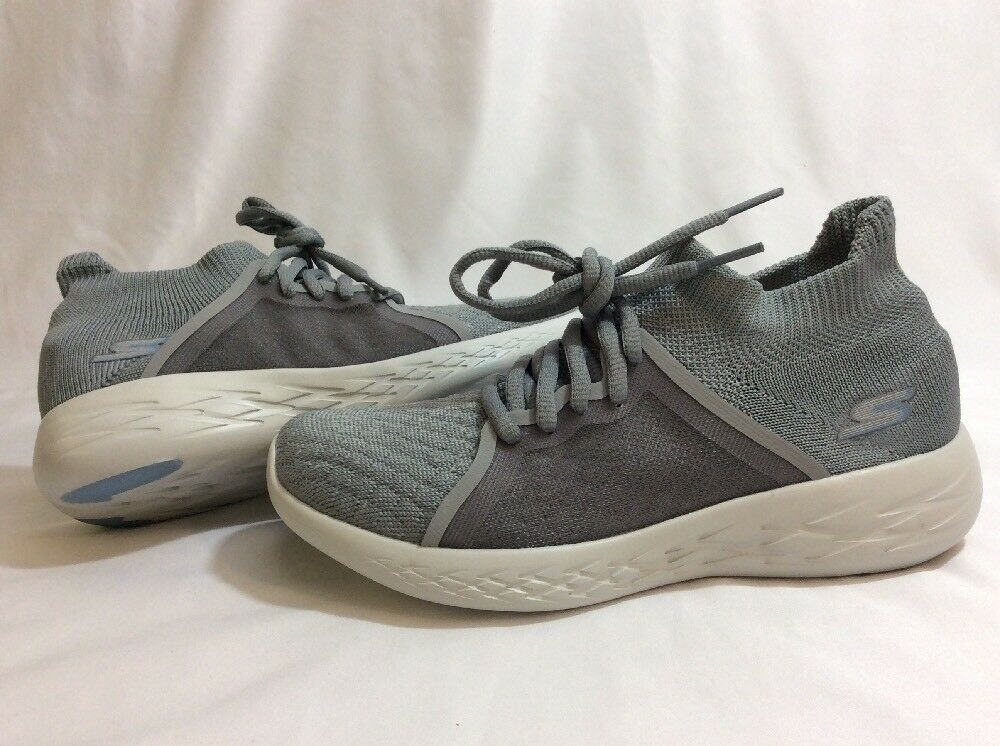 SKECHERS Goga Mat Athletics Damens's Schuhes, Gray Größe 6