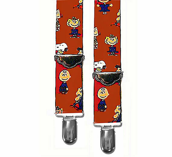 *SNOOPY & THE WHOLE GANG...SUSPENDERS - 2 ADULT SIZES - 1.5
