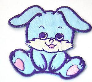 CUTE-BLUE-BUNNY-RABBIT-Embroidered-Iron-Sew-On-Cloth-Patch-Badge-APPLIQUE