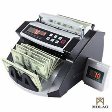 Item 2 Money Bill Cash Counter Bank Currency Counting Machine Uv Mg Counterfeit