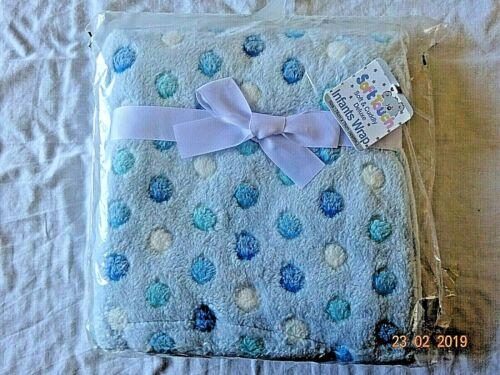 Bébé Filles Nourrissons Wrap Confort Landau//Poussette couverture bleu rose 75 x 75 cm