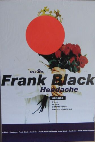 """40x60"""" HUGE SUBWAY POSTER~Frank Black Francis Headache 1994 Teenager of the Year"""