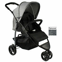 Red Kite Push Me Metro Stroller Compact Buggy Lightweight Pushchair Grey