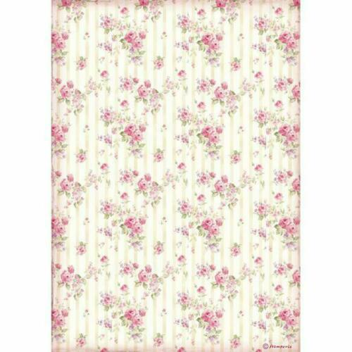 Decoupage 1 x A4 Size Sheet Shabby Roses Rice Paper Stamperia