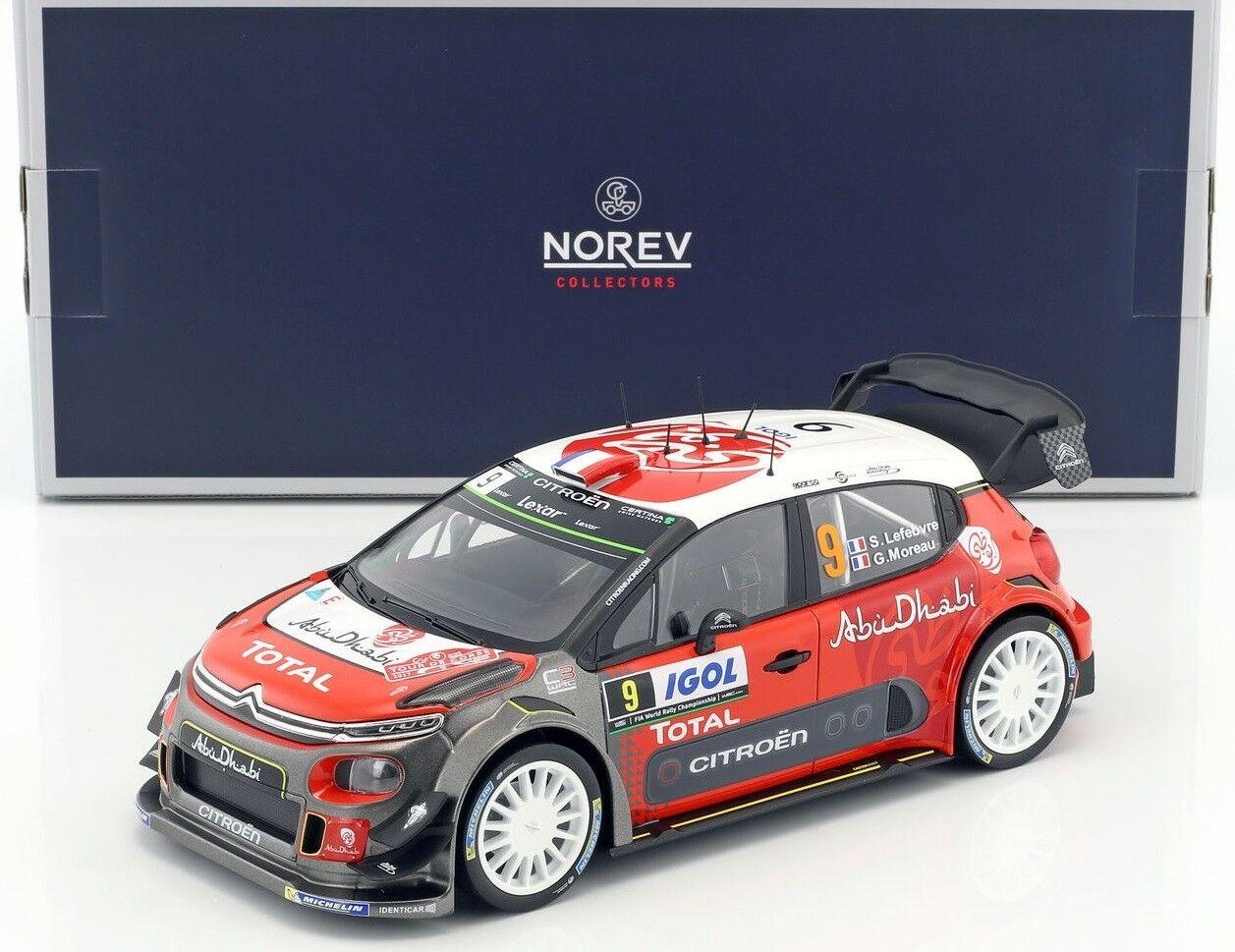 NOREV181633 - Voiture de rallye CITROEN C3 WRC N°9 rallye de Corse de 2017 équip