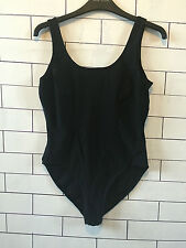 VINTAGE RETRO IBIZA BEACH BLACK LEOTARD FESTIVAL SWIMMING COSTUME BODYSUIT 18