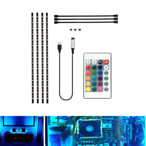 LED TV USB Backlight Kit Computer RGB LED Light Strip TV Background Lights 2M