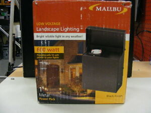MALIBU 600 WATT TRANSFORMER POWER PACK-LOW VOLTAGE LANDSCAPE LIGHTING-ML600RTWM