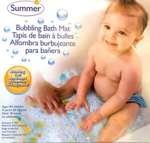 Summer Infant Bubbling Bath Mat Baby Bath Tub Mat Ebay