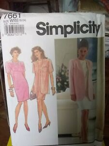 Oop-Simplicity-7661-misses-dress-unlined-jacket-classic-size-18-24-NEW