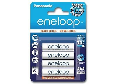 4x AAA R3 Panasonic Eneloop Rechargeable Battery NK053 UK