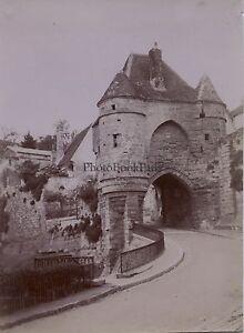 Porte-d-039-Ardon-Laon-Picardie-France-Photo-Amateur-Vintage-citrate-1900
