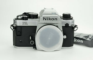 Nikon FA Chrome body 35mm film camera reflex analogica Ai s lenses Near mint