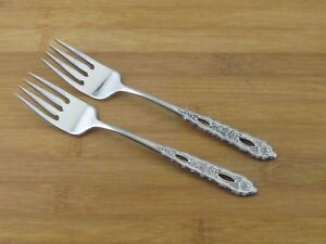 2-Two-Oneida-Proposal-Salad-Dessert-Forks-6-7-8-034-VGC-Deluxe-Stainless-Flatware