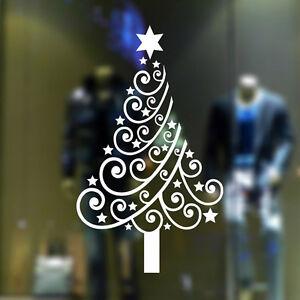 Removable Showcase Christmas Tree Star Vinyl Sticker