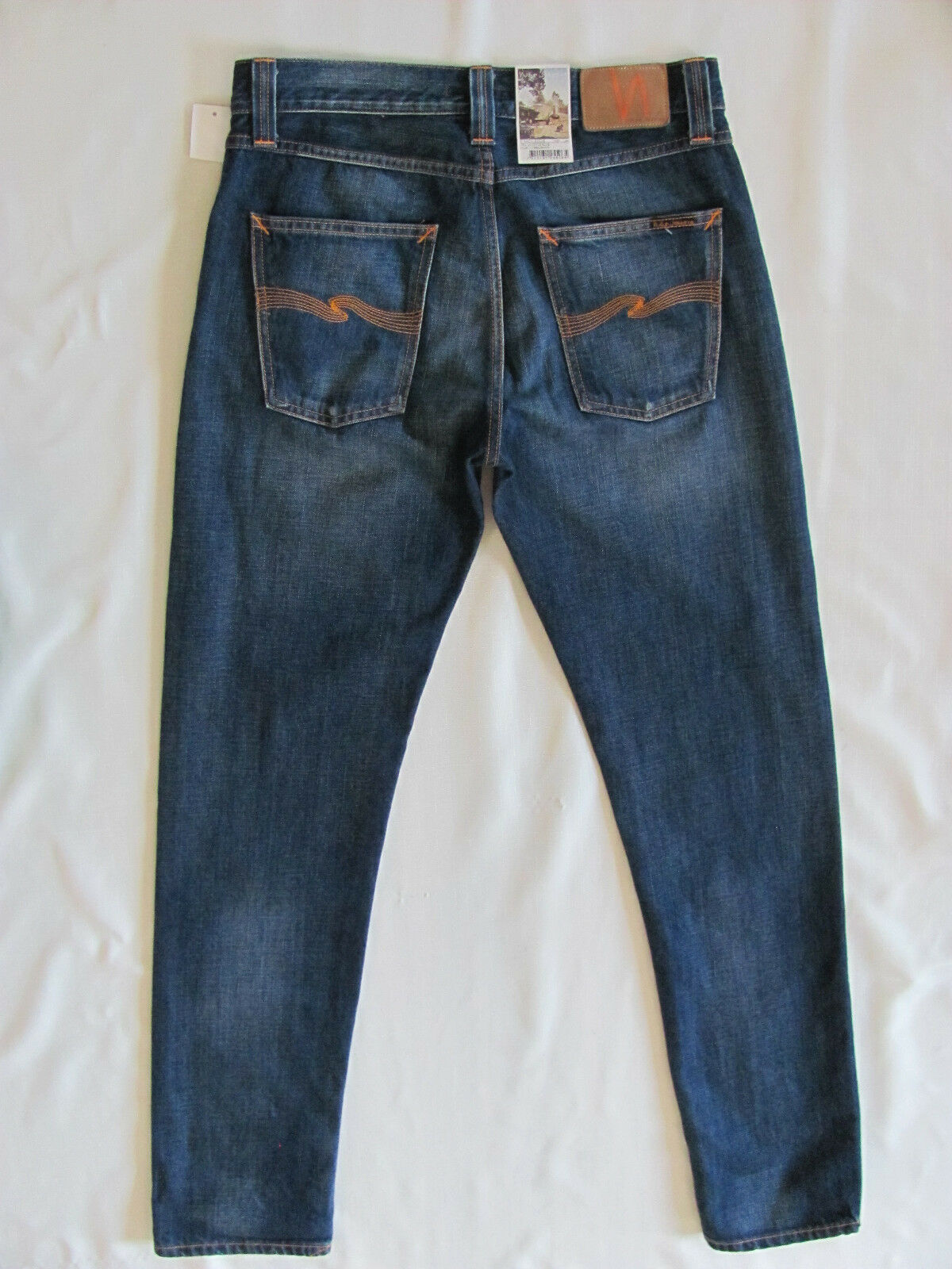 Nudie Jeans Steady Eddie Organic Cotton-Whistle bluee  NJ3894 -Size 31 L34
